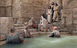 Jesus at the pool of Bethesda