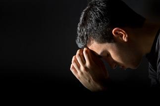 man praying (B-C-designs)