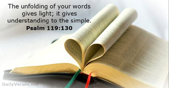 Psalm 119:130 and open Bible