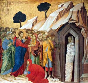 Raising Lazarus painting